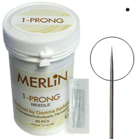 1 prong Needles, 50/box Round with Printed