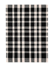 Load image into Gallery viewer, Tattersall Black Indoor/Outdoor Rug