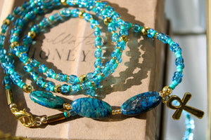 The Flow Goddess waist bead - Moon Water and Honey