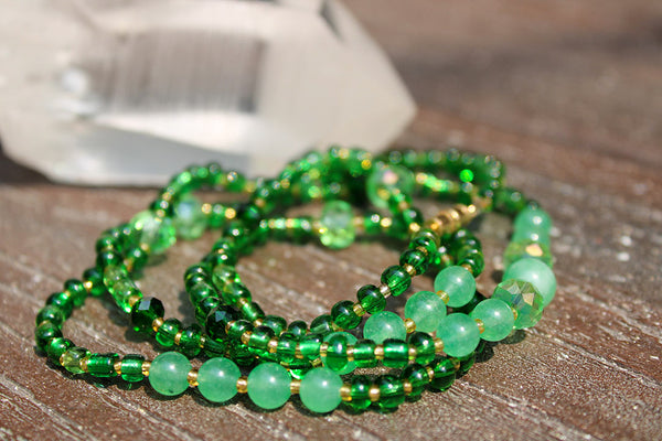 "Heart Chakra ""Green"" Healing Waist Beads - Moon Water and Honey"