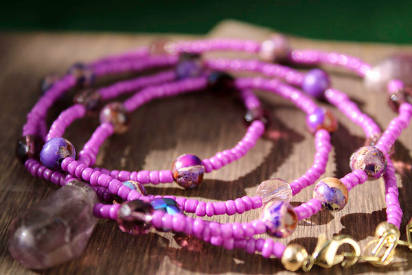 "Crown Chakra ""Purple"" Healing Waist Bead - Moon Water and Honey"