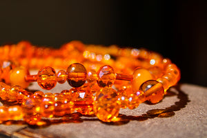 "Sacral Chakra ""Orange"" Healing Waist Beads - Moon Water and Honey"