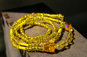 "Solar Plexus ""Yellow"" Healing Waist Beads - Moon Water and Honey"