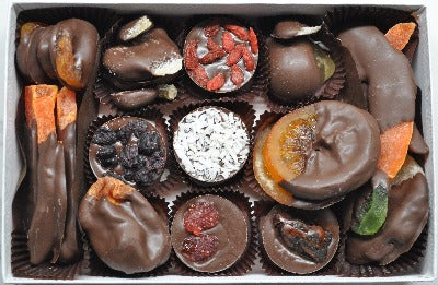Handcrafted Luxury Gourmet Chocolate Covered Fruits Christmas Gift Box