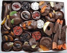 Load image into Gallery viewer, Handcrafted Luxury Gourmet Chocolate Covered Fruits Christmas Gift Box