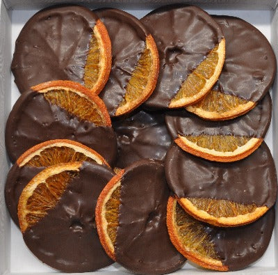 Dried Oranges Dipped in Dark Chocolate