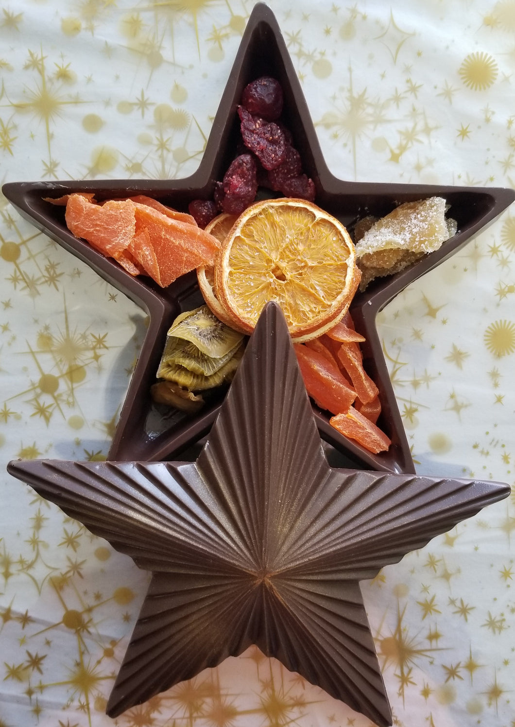 Christmas Star Shaped Chocolate Gift Box with Candied & Dried Fruits