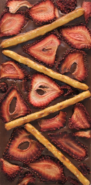 Strawberries and Pretzel Chocolate Bar