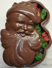 Load image into Gallery viewer, Santa Face Christmas Chocolate Gift Box with Gummy Bear