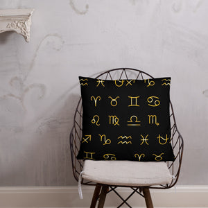 Zodiac Unity Pillow (Gold) - Zodi-Hacks Apparel