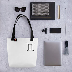 Zodi-Hacks Gemini Symbol Tote bag - Zodi-Hacks Apparel