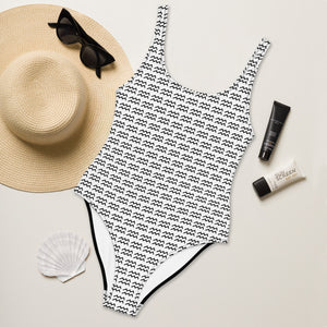 Zodiac Symbol One-Piece Swimsuit (Aquarius) - Zodi-Hacks Apparel