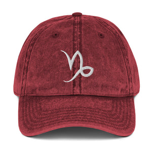 Zodi-Hacks Capricorn Vintage Cotton Twill Cap - Zodi-Hacks Apparel