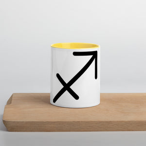 Sagittarius Symbol Mug with Color Inside - Zodi-Hacks Apparel