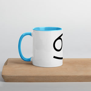 Cancer Symbol Mug with Color Inside - Zodi-Hacks Apparel