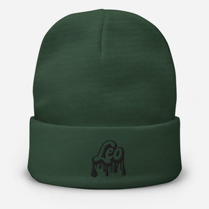 The Drip Zodiac Cuffed Beanie (Leo)