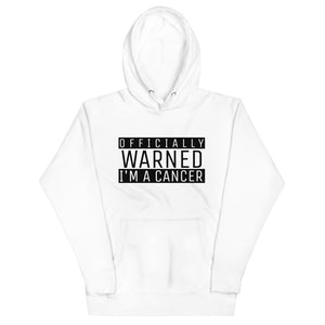 Zodiac Warning Unisex Hoodie (Cancer) - Zodi-Hacks Apparel