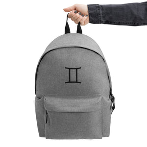 Zodi-Hacks Gemini Embroidered Backpack - Zodi-Hacks Apparel