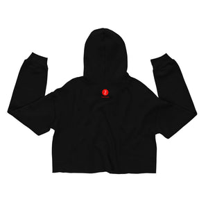 The Vibe Crop Hoodie (Aquarius) - Zodi-Hacks Apparel