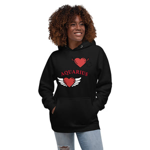 Good vs. Evil Unisex Hoodie (Aquarius) - Zodi-Hacks Apparel