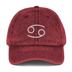 Zodi-Hacks Cancer Vintage Cotton Twill Cap - Zodi-Hacks Apparel