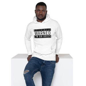 Zodiac Warning Unisex Hoodie (Aries) - Zodi-Hacks Apparel