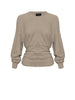 DELTA ROUCHED SWEAT | BEIGE MARLE