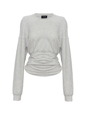 DELTA ROUCHED SWEAT | GREY