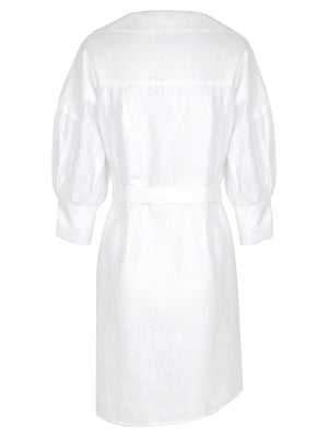 Francis Shirt Dress | Powder