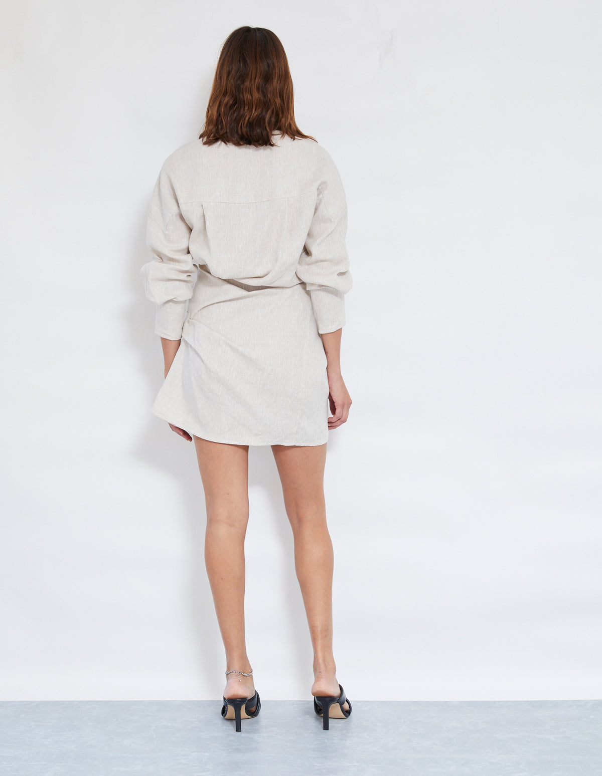 LOVERS LINEN TWIST DRESS | NATURAL