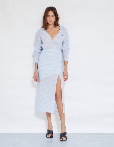 BAM BAM SHIRT DRESS | PALE BLUE