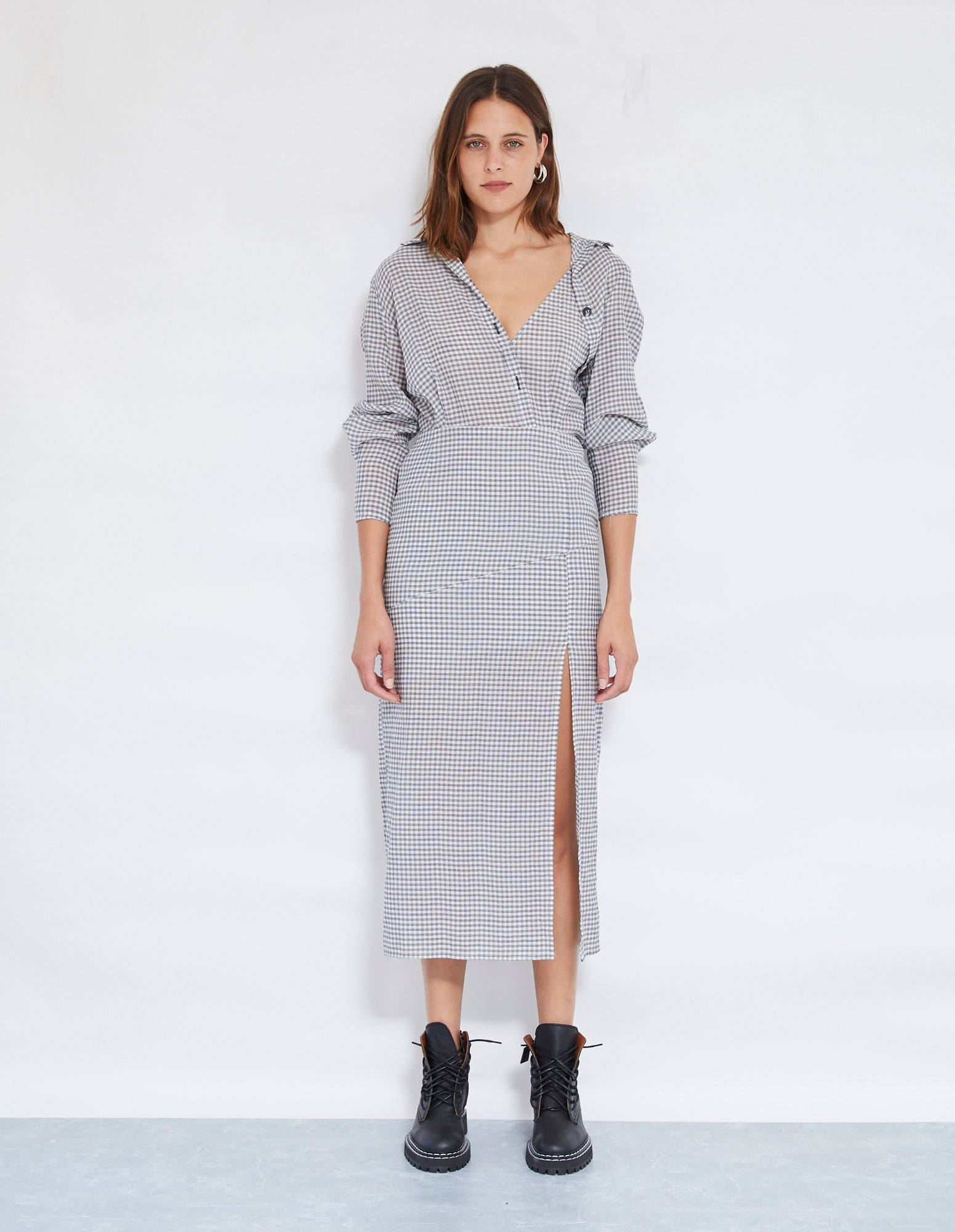 BAM BAM SHIRT DRESS | POWDER + BLACK
