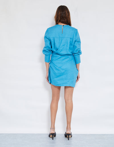 LUNA TWIST DRESS | OCEAN