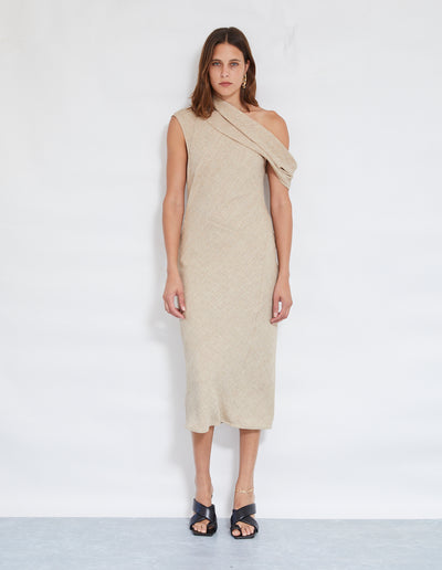 ZIGGY DRESS | BEIGE MARLE