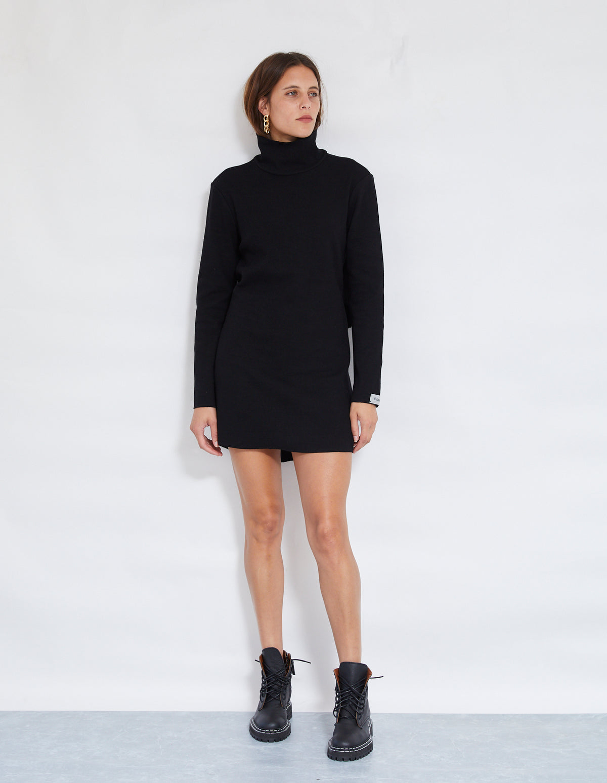 BRUNO RIB DRESS | BLACK