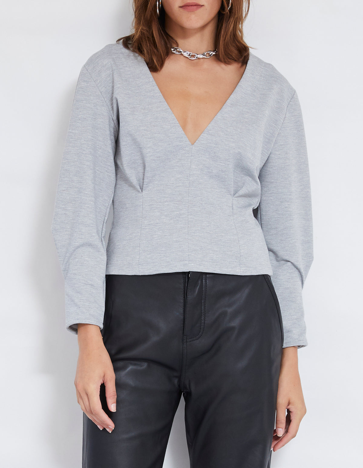 ANDERSON TOP | GREY MARLE