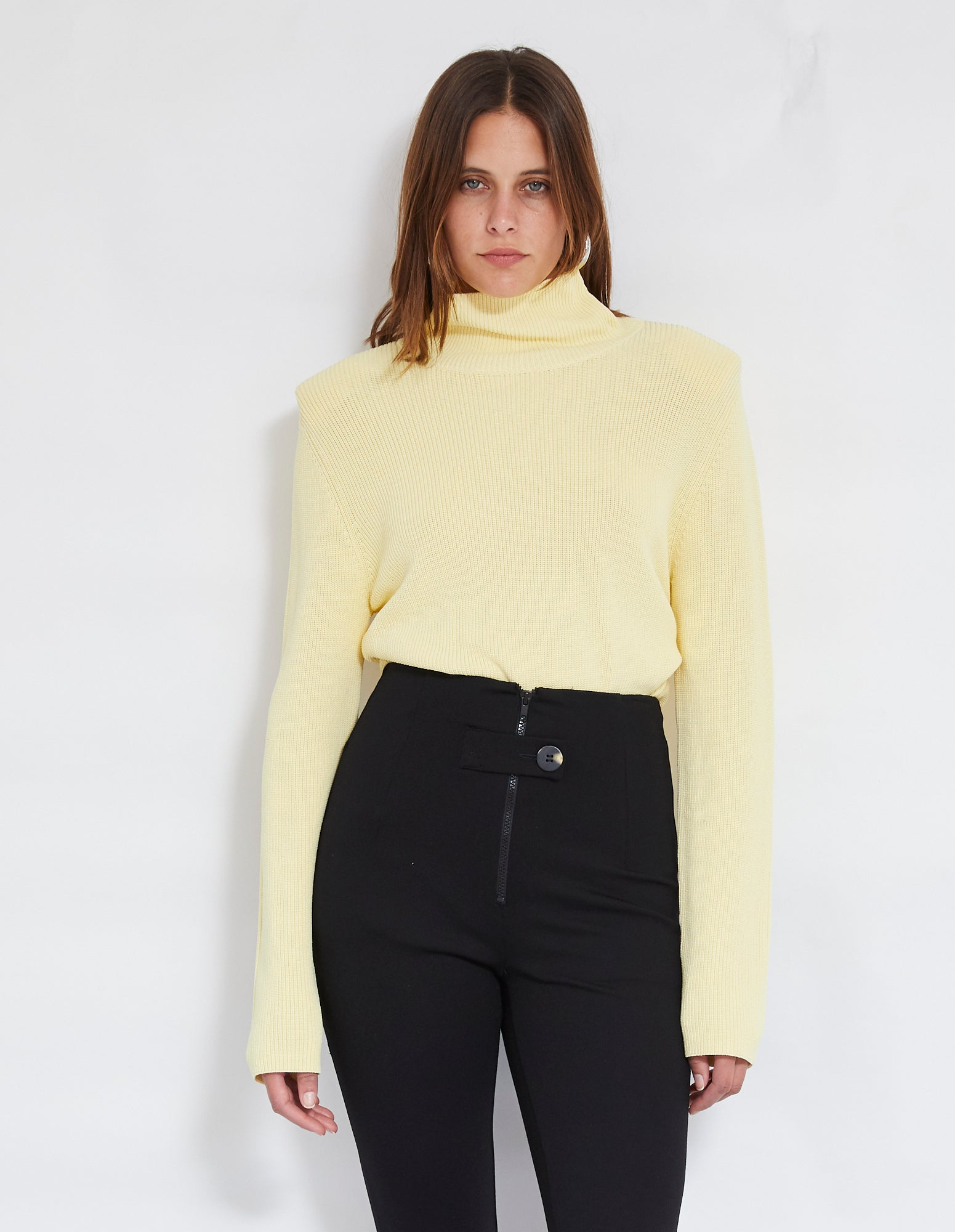 ROBBIE KNIT JUMPER | LEMON