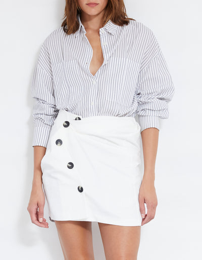 RICARD TWIST SKIRT | POWDER