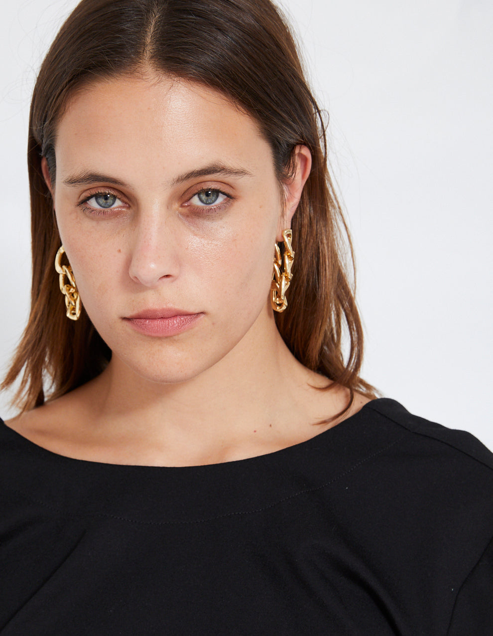ROBBIE CHAIN EARRING | GOLD