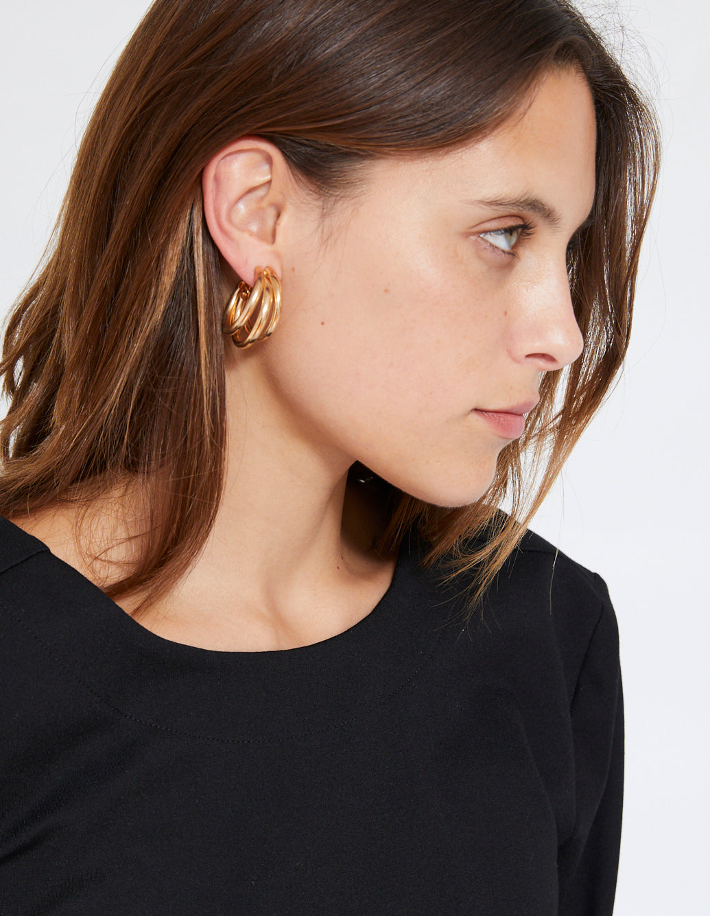 MIRO TRIPLE HOOP | GOLD