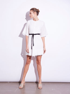Lester Mini Dress with Tie