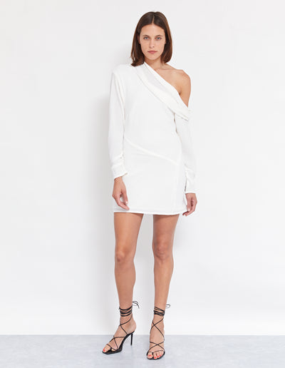 NEW WAVE MINI DRESS | POWDER