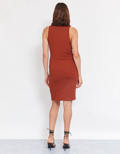 GRAFF DRESS | RUST