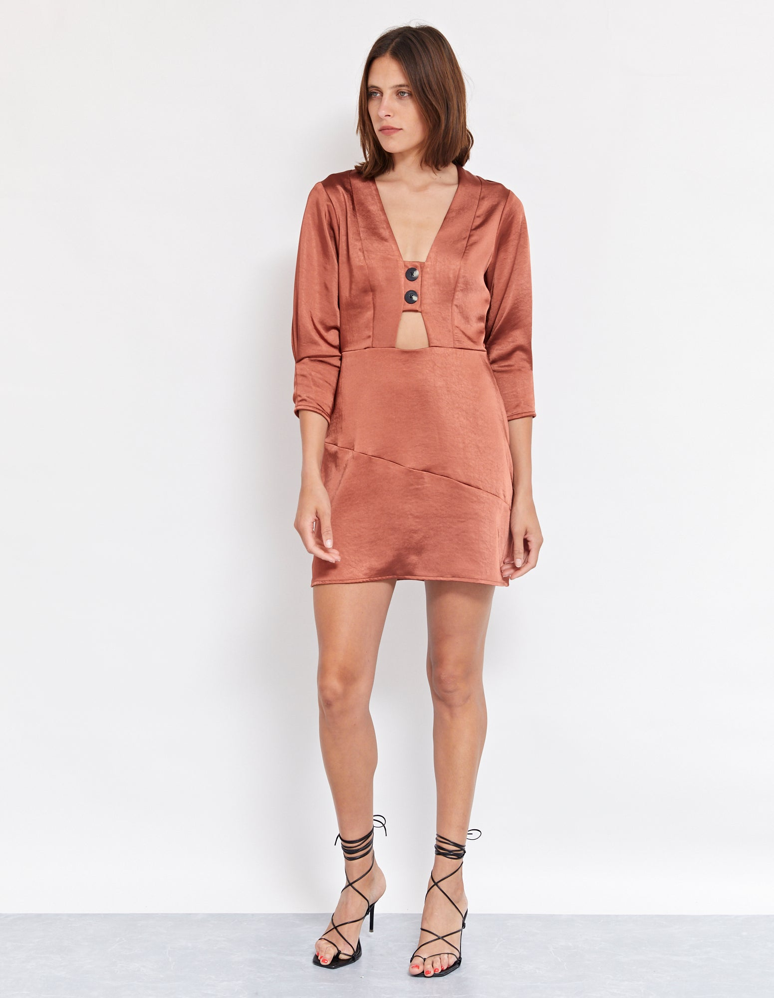 SUKIE MINI DRESS | RUST