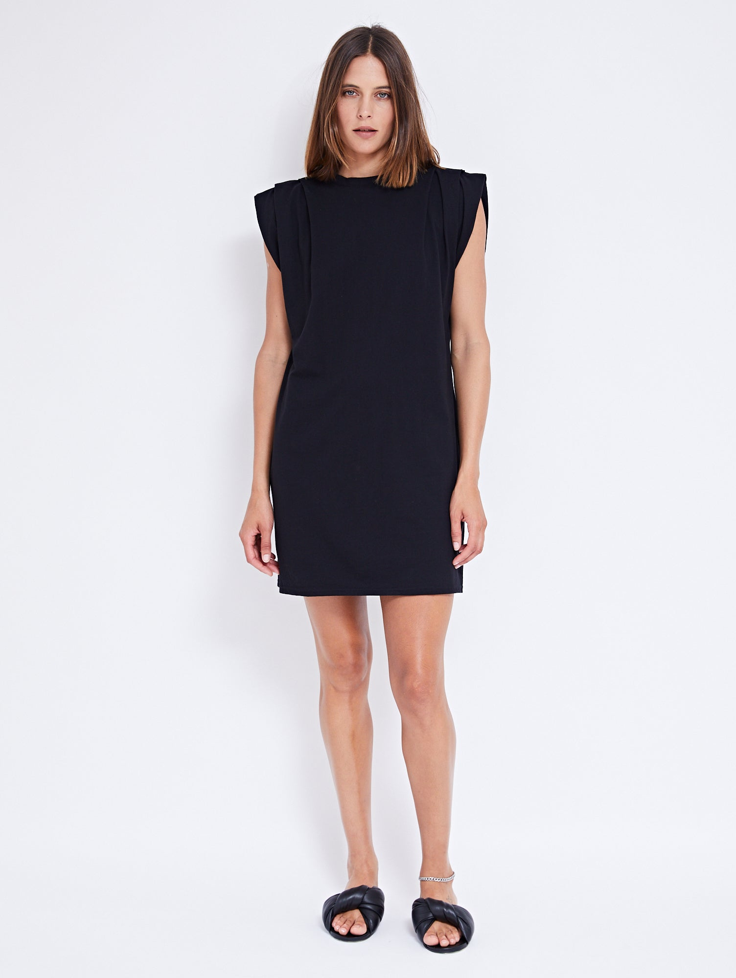 KASKADE TANK DRESS | BLACK