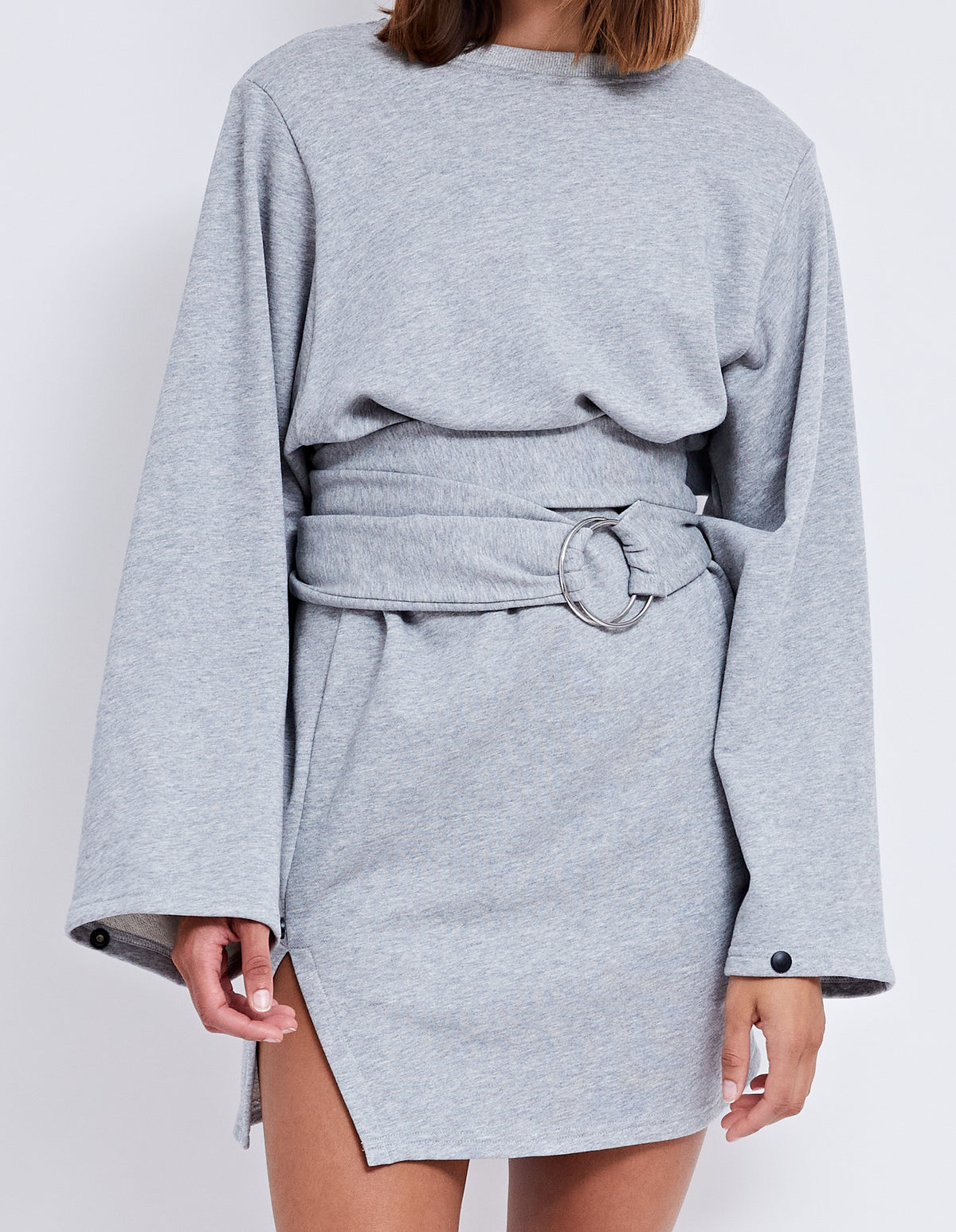 THE KEYS SWEATER DRESS | GREY MARLE