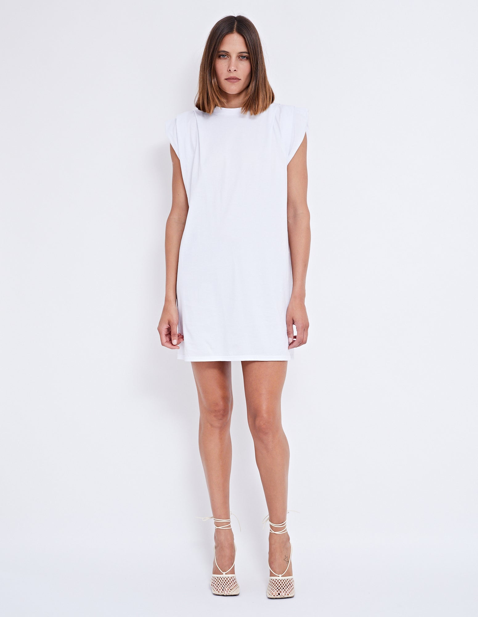 KASKADE TANK DRESS | WHITE