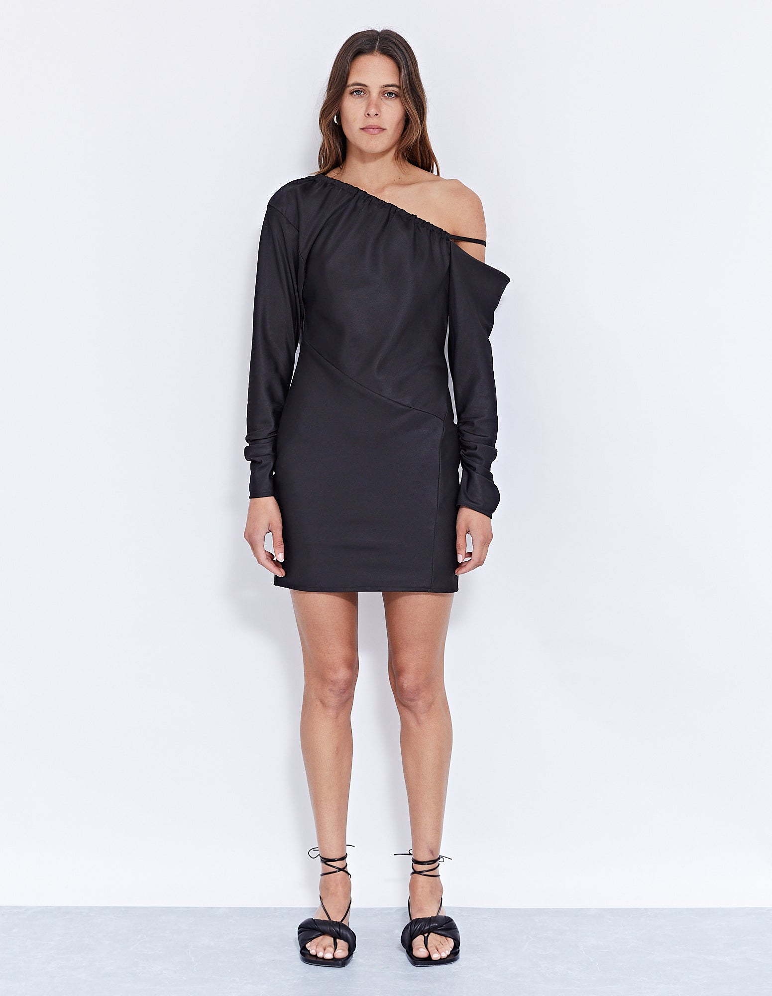 THE LOUIS MINI DRESS | BLACK