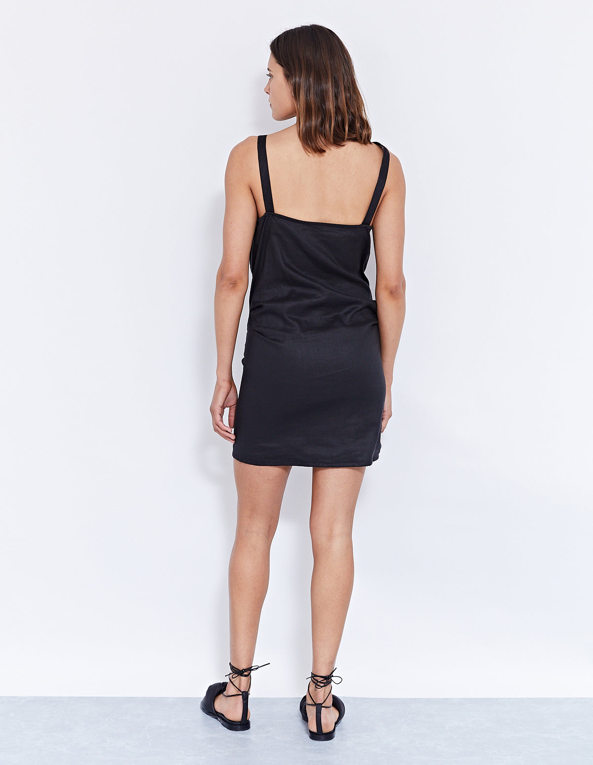 MORILLO MINI DRESS | BLACK
