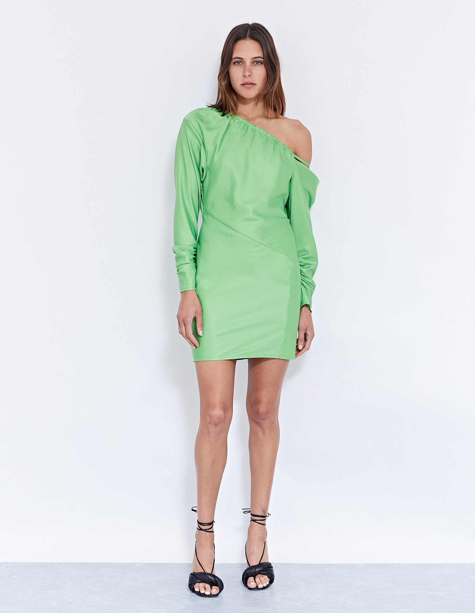 THE LOUIS MINI DRESS | LIME
